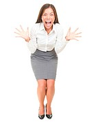 Crazy screaming business woman