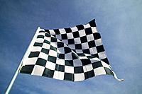 Checkered Flag Against Sky