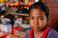 10 years old cambodian girl. Humanitarian aid with Chain of Hope. Chain of Hope NGO has the aim to save the children severely ill, condamned in their ...