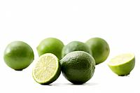 limes and halfes on white