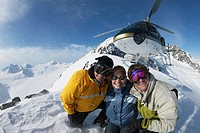 Helicopter Skiing, Coast Mountains, British Columbia, Canada.