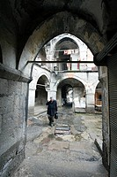 almost deserted roofed historical bazaar, Turkey, Central Anatolia Region, Kayseri