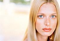Young Blond Woman with Freckles