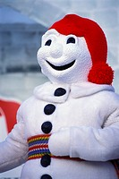 Bonhomme Carnaval, snowman character at Winter Carnival, Quebec City, Quebec, Canada. The Quebec Winter Carnival is the world's largest winter carniva...
