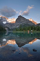 Lake O´Hara Lodge cabins, Lake O´Hara, Yoho National Park, British Columbia, Canada