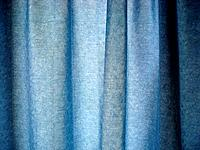 Texture of blue curtain fabric