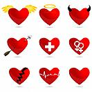 different shapes of heart