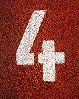 Number ´4´ on running track