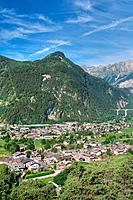Aosta valley in Morgex