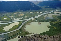 Rapa River delta in Rapa Valley, Sweden, Sarek National Park