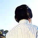 Man Wearing Headphones Outside