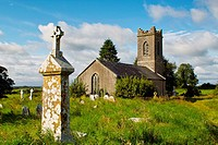 Old disused protestant church and graveyard at Horseleap, County Westmeath, Ireland.