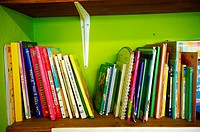 Shelving books in a school