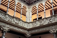 Renaissance interior of Patio de la Infanta, Zaragoza, Aragon, Spain