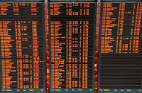 Airport flight board information