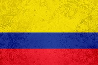 Flag of Colombia grunge texture