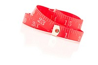Red Measuring Tape on White