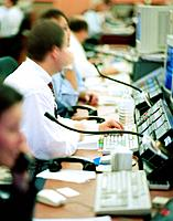 Stockbrokers Using Computers