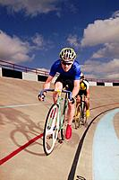 Bicyclists on Track