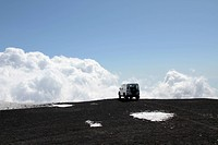 off_road Vehicle on Mt Etna volcano