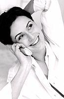 Cordless phone portrait