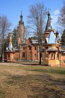 geography / travel, Russia, Klyazma, Moscow region, churches, Church of the Grebnev icon of Holy Virgin 1902, exterior view,