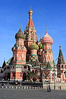 geography / travel, Russia, Moscow, churches, Domes of St. Basil´s cathedral, built: 1561, Red square, exterior view,