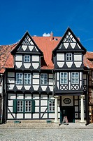 geography / travel, Germany, Saxony_Anhalt, Quedlinburg, buildings, Klopstock House, built: 1570, exterior view,