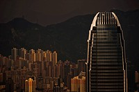 The famous Two International Finance Centre dominates the Hong kong skyline