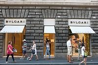 Bulgari store, Rome, Lazio, Italy, Europe
