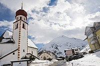 Vent, a village in Venter valley, is a winter sport and mountain hiker center, Tirol, Austria