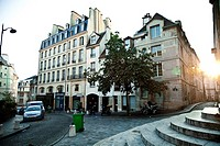 Montagne St  Genevieve, the street where the actor of ´Midnight in Paris´ Woody Allen each night go, Paris, France