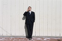 Businessman Phoning outdoors