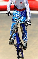 BMX rider in the championship held in Madrid Spain