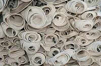 Rolls of curtains