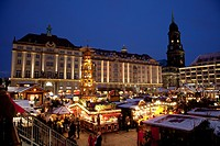 geography / travel, Germany, Saxony, Dresden, Altmarkt, Christmas fair, Striezelmarkt,