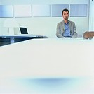 Man Waiting in Office