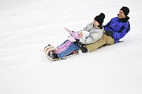 Family Tobogganing