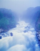 Brador Falls and Mist, Brador, Lower North Shore, Duplessis Region, Quebec