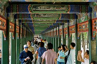 The Long Corridor, running along the north shore of Kunming Lake, Summer Palace, Beijing, China