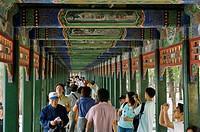 The Long Corridor, running along the north shore of Kunming Lake, Summer Palace, Beijing, China