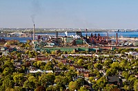 View of Arcelor_Mittal Steel Plant, Hamilton, Ontario, Canada.