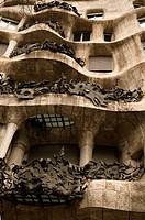 modernist house by antonio gaudi _ la padrera. detail
