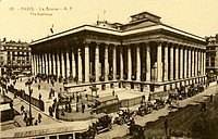 money / finance, stock exchange, Paris, exterior view, picture postcard, 1920s,