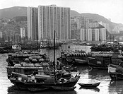 geography / travel, People´s Republic of China, Hong Kong, Shau Kei Wan, city views / cityscapes, view of the town, from the heaven, 1972,