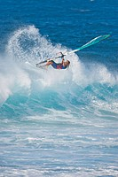 Windsurfer Surfing Wave