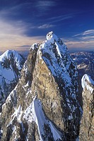 Aerial of Mount Waddington, British Columbia, Canada.
