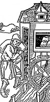 people, professions, miller, water mill, woodcut, Germany, 15th century,