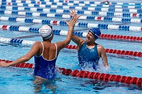Swimmers Giving High_Five