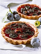 Quetsch plum tartlets